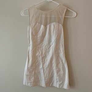 RARE | LULULEMON White Tank with Mesh